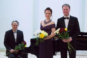 Inga Šļubovska-Kancēviča , Sandis Šteinbergs un Jānis Maļeckis Oleru muižā